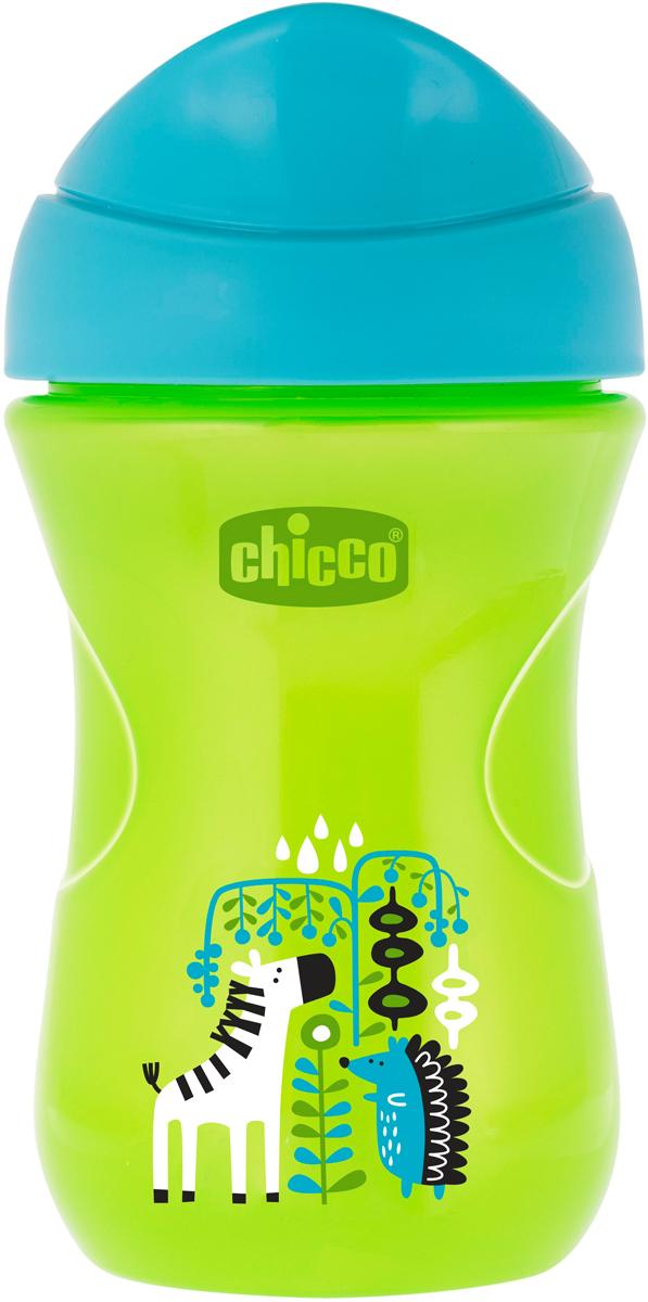 Chicco Чашка-поильник Easy Cup от 12 месяцев цвет зеленый 266 мл -  Поильники