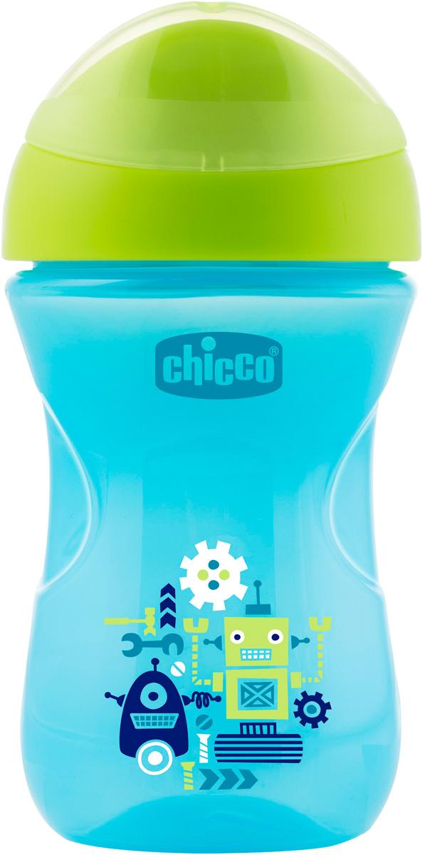 Chicco Чашка-поильник Easy Cup от 12 месяцев цвет синий 266 мл -  Поильники