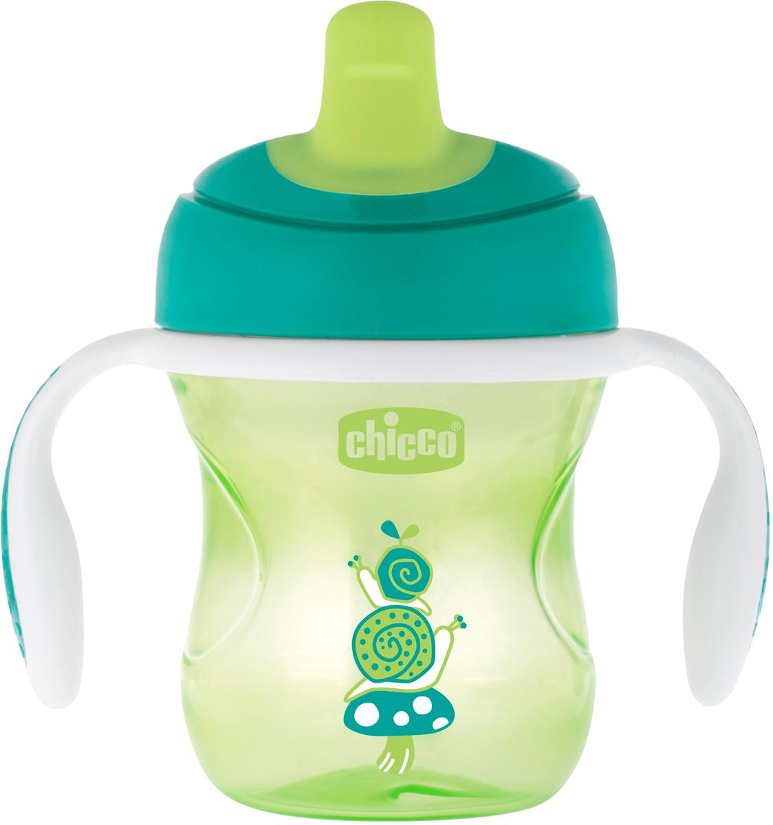 Chicco Чашка-поильник Transition Cup от 6 месяцев цвет зеленый 200 мл -  Поильники