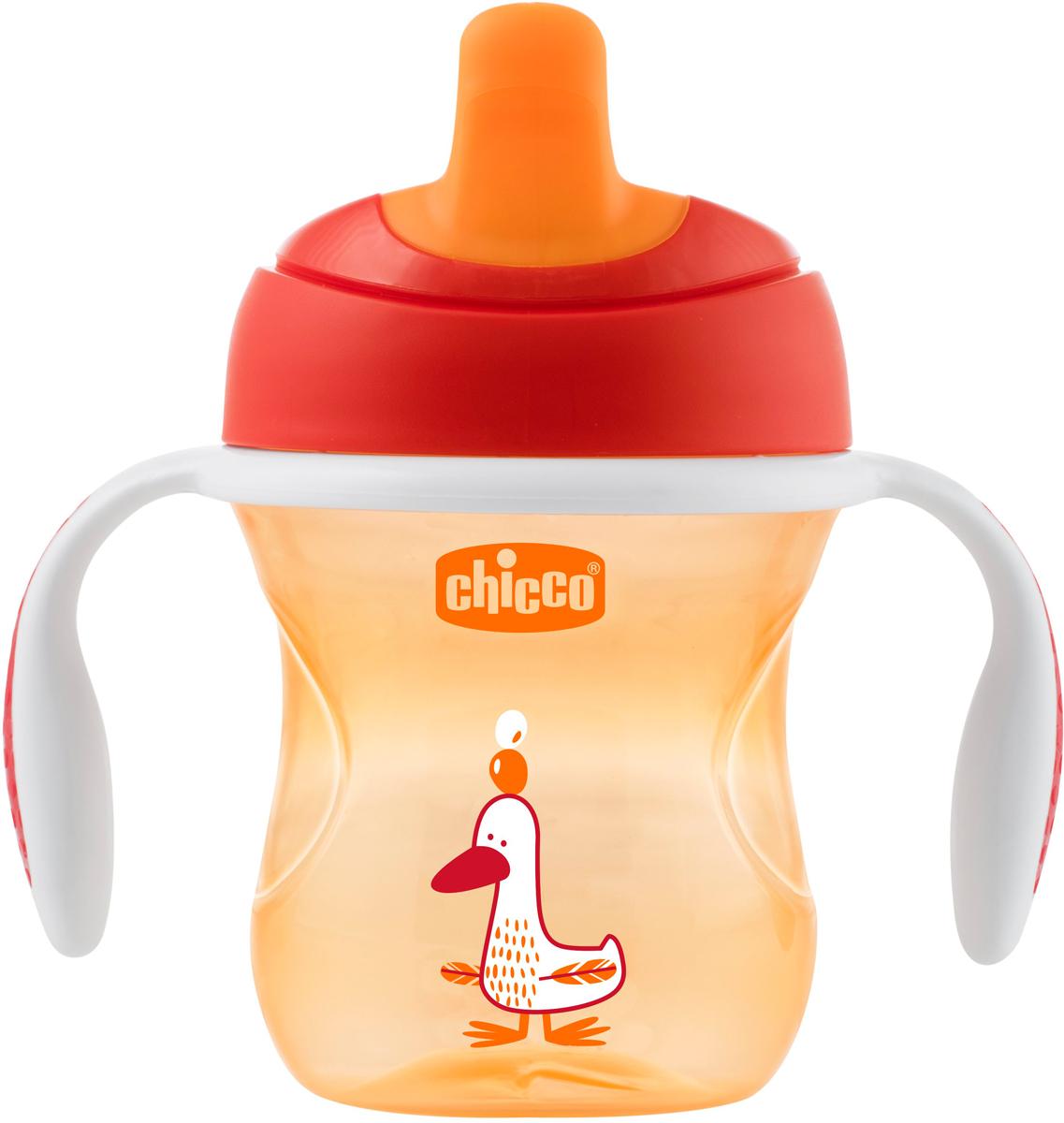 Chicco Чашка-поильник Transition Cup от 6 месяцев цвет красный 200 мл -  Поильники
