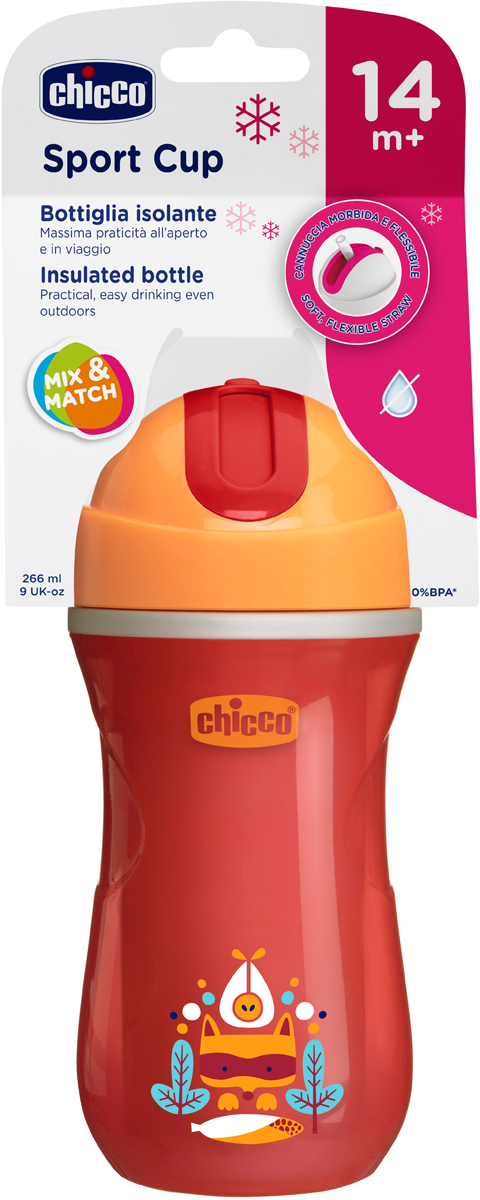 Chicco Чашка-поильник Easy Cup от 14 месяцев цвет красный -  Поильники