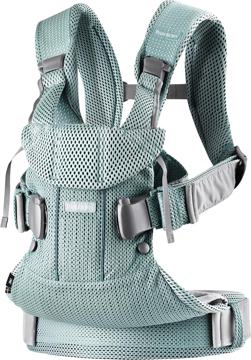 BabyBjorn Рюкзак для переноски ребенка One Mesh цвет мятный -  Рюкзаки, слинги, кенгуру