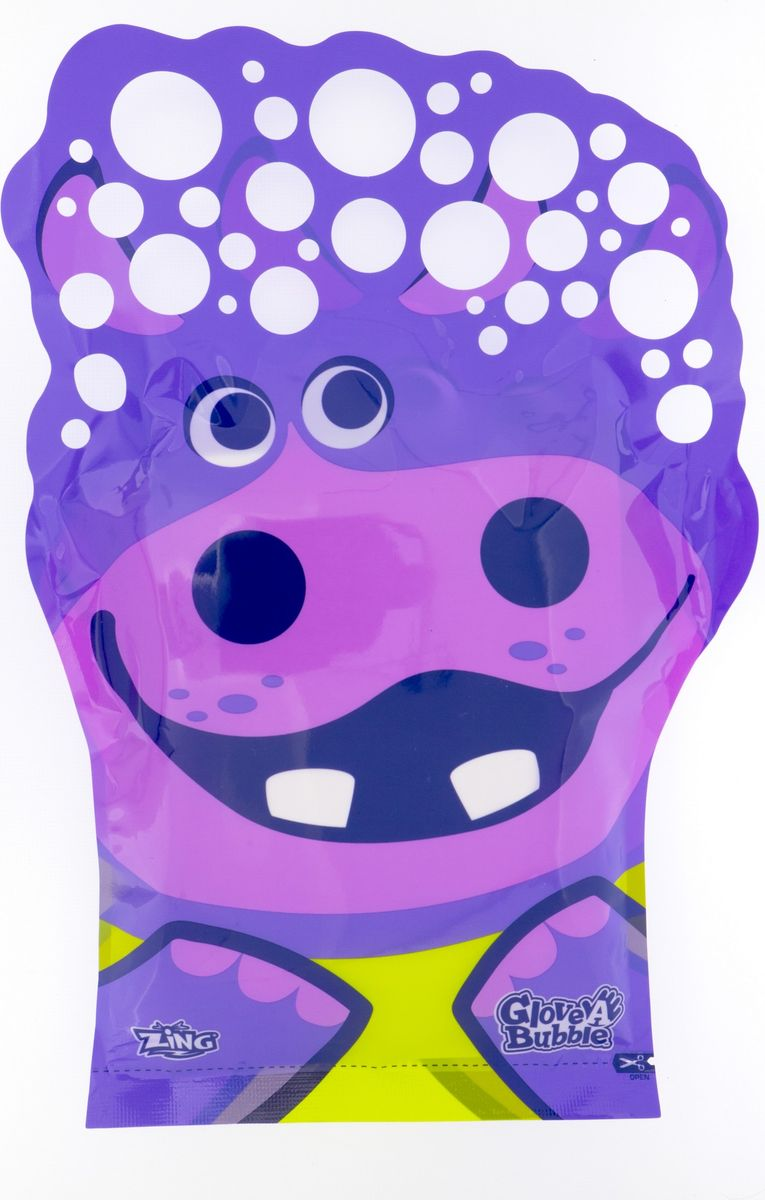 Glove-A-Bubbles Мыльные пузыри Гиппопотам -  Мыльные пузыри