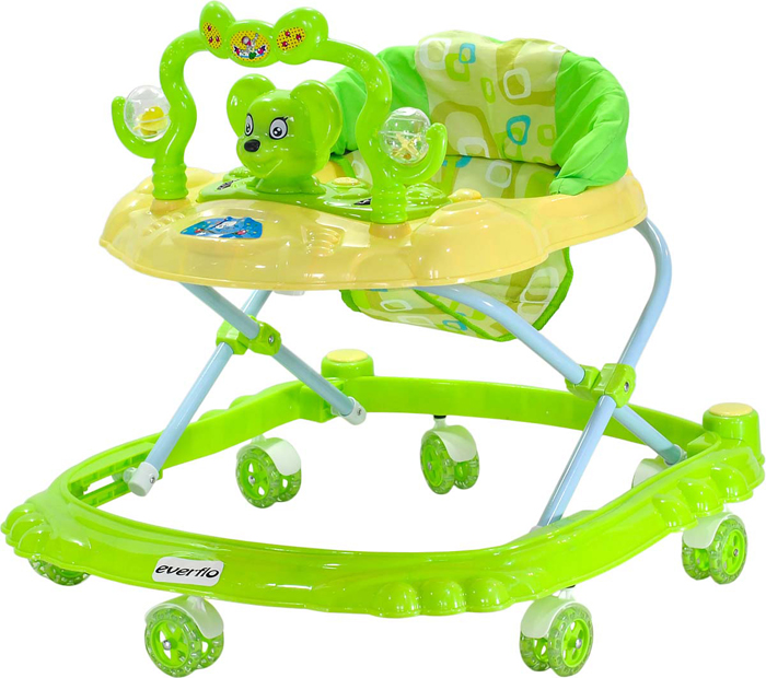 Everflo Ходунки Мышонок W403 цвет зеленый -  Ходунки, прыгунки, качалки