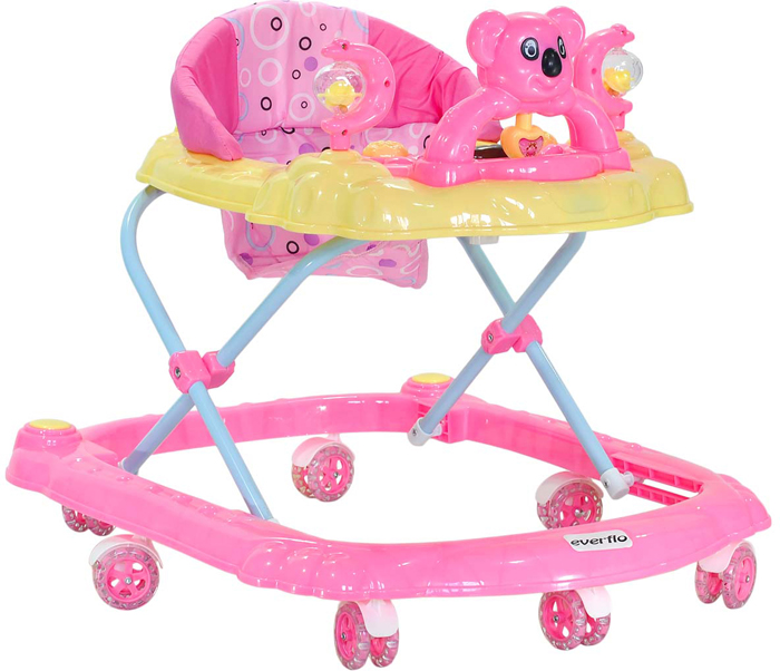 Everflo Ходунки Коала W405 цвет розовый -  Ходунки, прыгунки, качалки