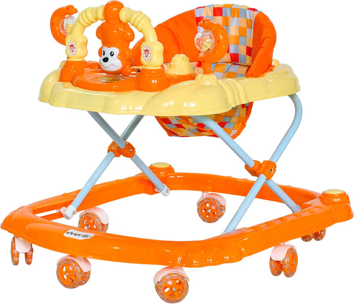Everflo Ходунки Обезьянка W407 цвет оранжевый -  Ходунки, прыгунки, качалки