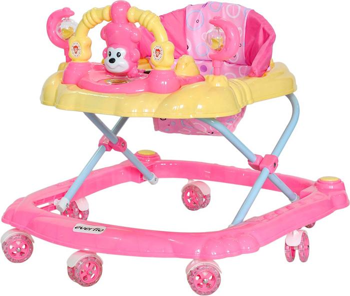 Everflo Ходунки Обезьянка W407 цвет розовый -  Ходунки, прыгунки, качалки