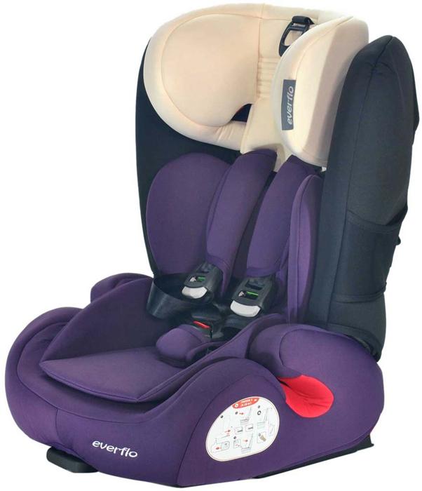 Автокресло Everflo Safe 968P цвет пурпурный от 9 до 36 кг -  Автокресла и аксессуары