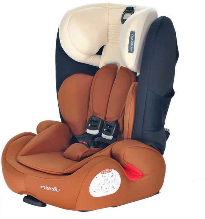 Автокресло Everflo Safe 968P цвет коричневый от 9 до 36 кг -  Автокресла и аксессуары