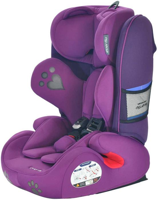Автокресло Everflo Bear Keeper 968PB цвет пурпурный от 9 до 36 кг -  Автокресла и аксессуары