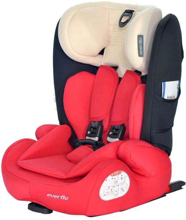 Автокресло Everflo Road Luxe Isofix 968HIP цвет красный от 9 до 36 кг -  Автокресла и аксессуары