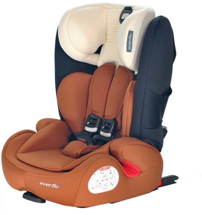 Автокресло Everflo Road Luxe Isofix 968HIP цвет коричневый от 9 до 36 кг -  Автокресла и аксессуары