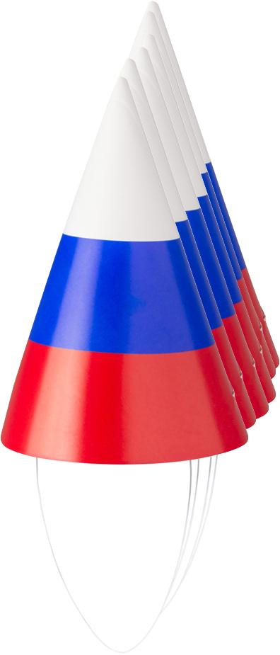 Action! Набор карнавальных колпаков Триколор 6 шт -  Колпаки и шляпы