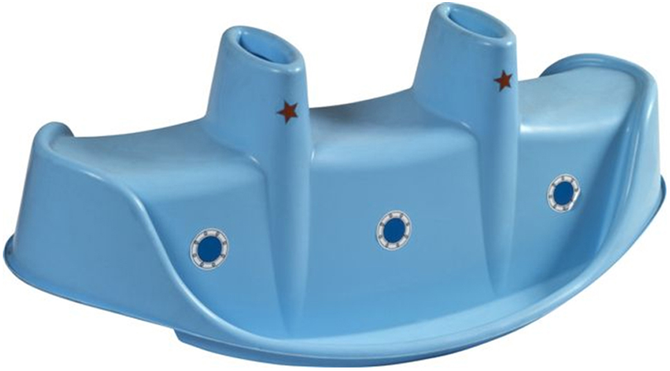 Качалка для троих PalPlay Пароход цвет голубой -  Ходунки, прыгунки, качалки