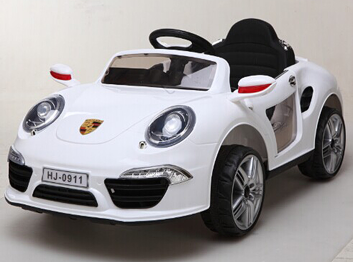 1TOY Электромобиль Порше 911 цвет белый -  Электромобили