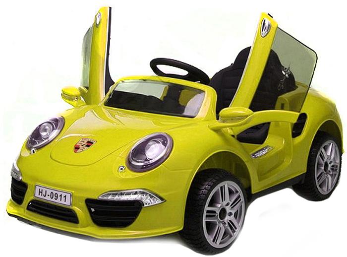 1TOY Электромобиль Порше 911 цвет желтый -  Электромобили