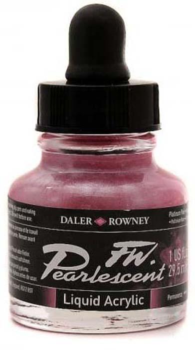 Daler Rowney Чернила перламутровые Fw Artists цвет розовый 29,5 мл -  Чернила и тушь