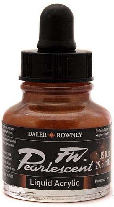 Daler Rowney Чернила перламутровые Fw Artists цвет коричневый 29,5 мл -  Чернила и тушь