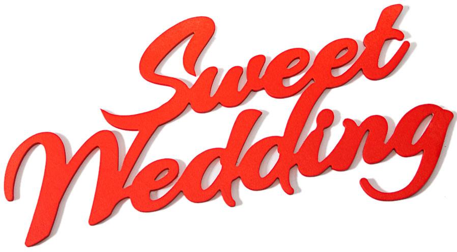 Декор свадебный Magellanno  Sweet Wedding , интерьерный, цвет: красный, 42 х 21,5 х 6 см -  Карнавальные костюмы и аксессуары