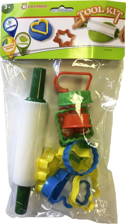 Baramba Набор для лепки и моделирования Скалка 12 форм -  Пластилин