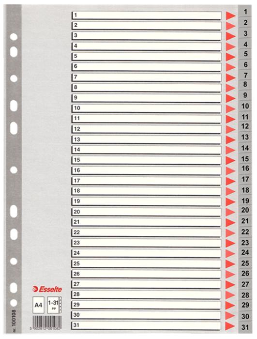 Esselte Разделитель для папки А4 1-31 цвет серый -  Файлы и разделители