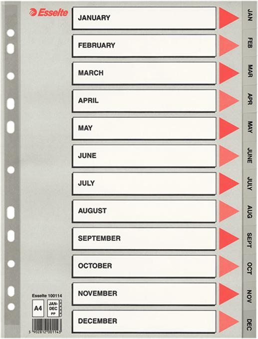 Esselte Разделитель для папки А4 цвет серый -  Файлы и разделители