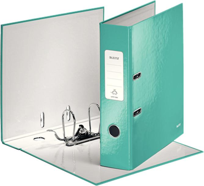 Leitz Папка-регистратор 180° WOW обложка 80 мм цвет бирюзовый -  Папки