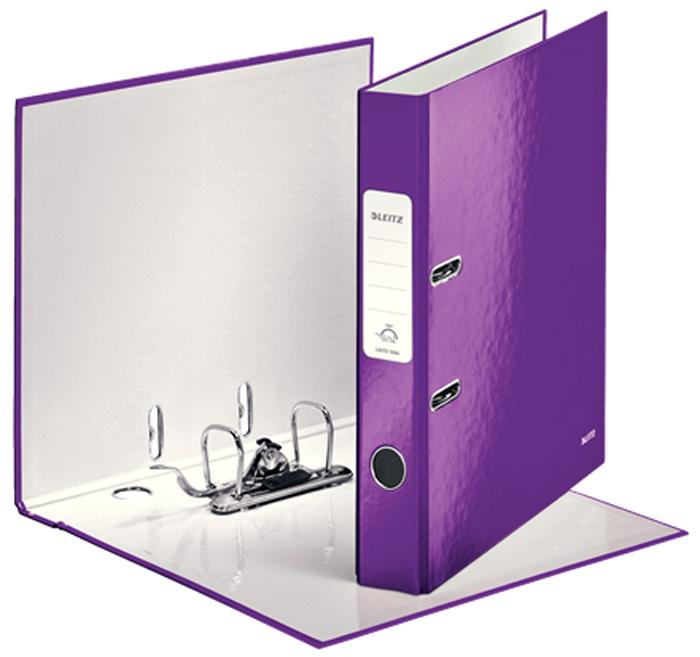 Leitz Папка-регистратор 180° WOW обложка 52 мм цвет фиолетовый -  Папки