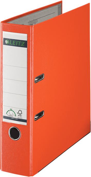 Leitz Папка-регистратор 180° обложка 80 мм цвет оранжевый -  Папки