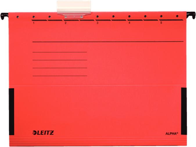 Leitz Папка подвесная Alpha формат A4+ цвет красный -  Папки