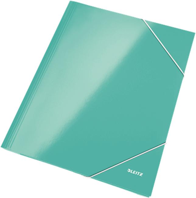 Leitz Папка на резинке WOW ламинированная цвет бирюзовый -  Папки