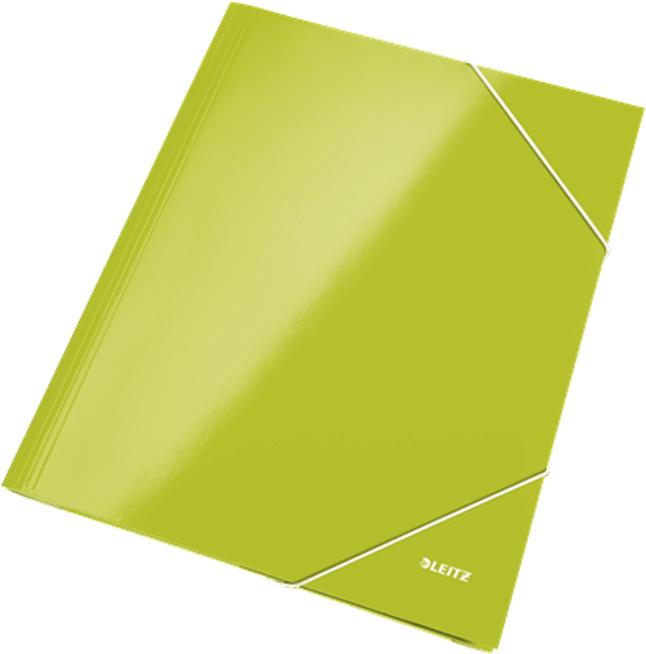 Leitz Папка на резинке WOW ламинированная цвет зеленый -  Папки