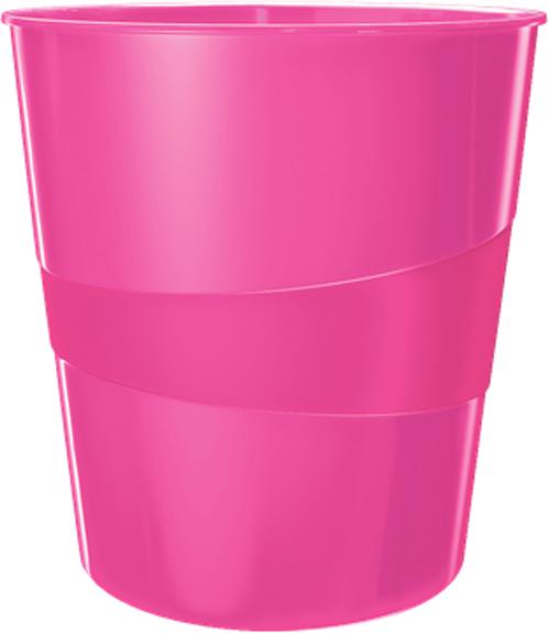 Leitz Корзина для бумаг WOW цвет розовый -  Корзины для бумаг