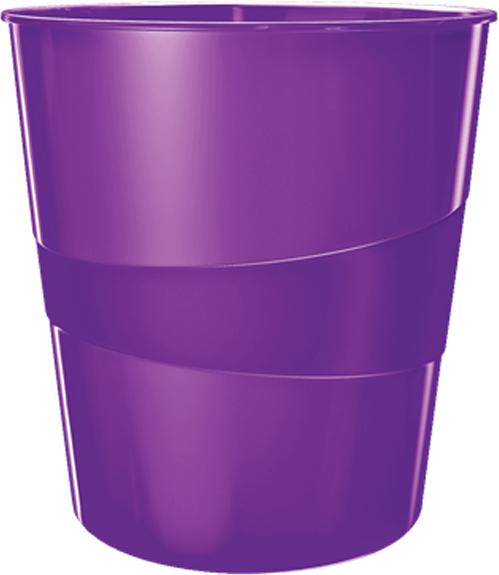 Leitz Корзина для бумаг WOW цвет фиолетовый -  Корзины для бумаг