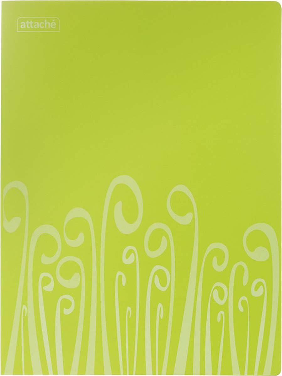 Attache Папка-регистратор с прижимом Fantasy А4 обложка 18 мм цвет салатовый -  Папки