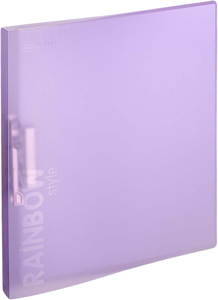 Attache Папка с зажимом Rainbow Style обложка 18 мм цвет фиолетовый -  Папки