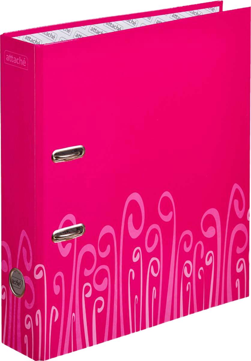 Attache Папка-регистратор с арочным механизмом Fantasy обложка 75 мм цвет розовый -  Папки