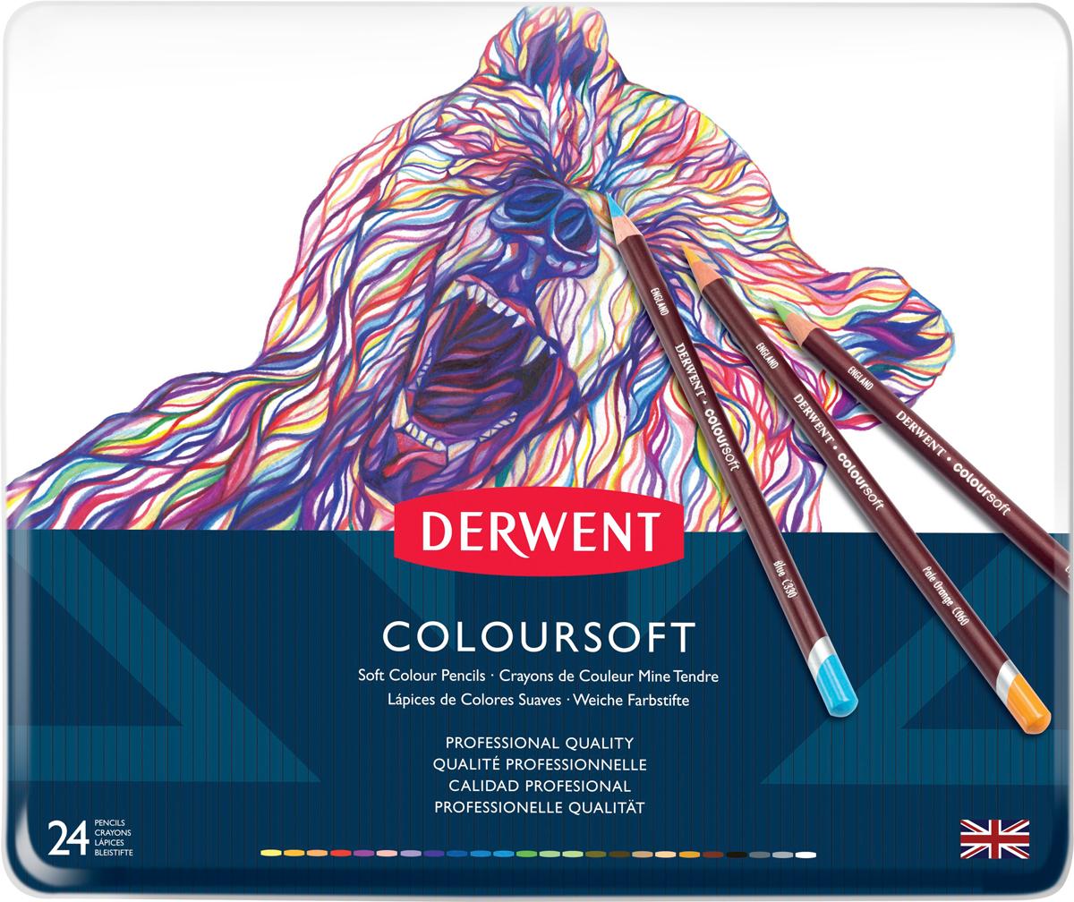 Derwent Набор цветных карандашей Coloursoft 24 цвета -  Карандаши