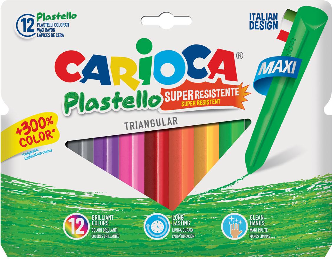 Carioca Набор крупных пластиковых мелков Plastello Maxi 12 цветов -  Мелки и пастель