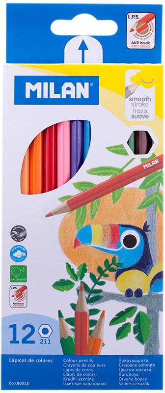 Milan Набор цветных карандашей 211 12 цветов -  Карандаши