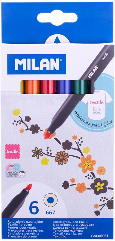 Milan Набор фломастеров для ткани 667 6 цветов -  Фломастеры