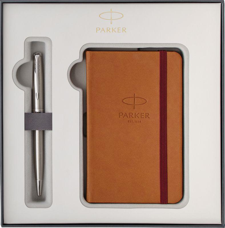 Parker Набор Ручка шариковая + Записная книжка Sonnet Stainless Steel CT -  Ручки