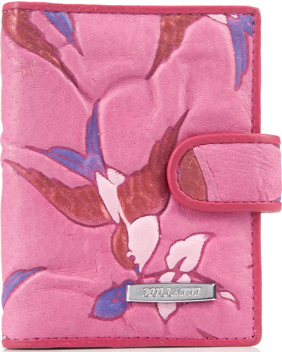 Визитница женская Bullatti, цвет: розовый. 2107FL-F53 -  Визитницы