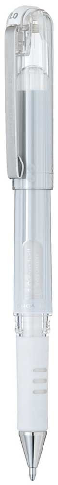 Гелевая ручка Pentel Hybrid Gel Grip DX, стержень 1 мм, цвет чернил: белый -  Ручки