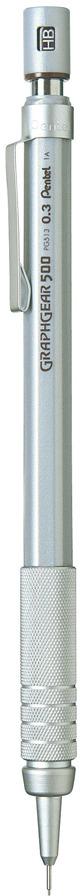Карандаш автоматический Pentel Graphgear 500, толщина 0.3 мм -  Карандаши