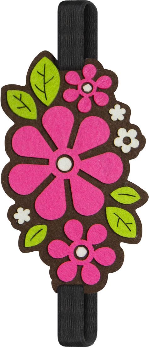Закладка Feltrica  Цветы 1 , на резинке -  Канцтовары и организация рабочего места
