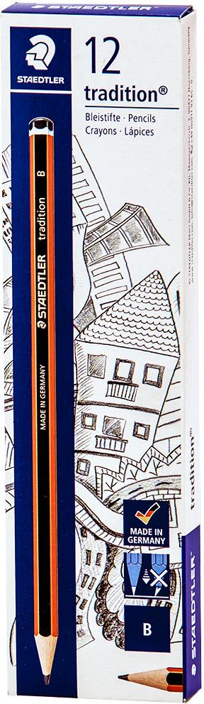 Набор чернографитовых карандашей Staedtler Tradition 110 B, 12 шт -  Карандаши