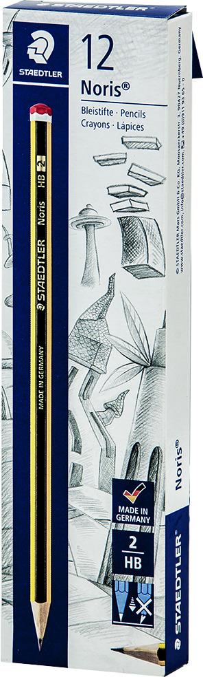 Набор чернографитовых карандашей Staedtler Noris 120 НВ, 12 шт -  Карандаши