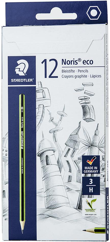 Набор чернографитовых карандашей Staedtler Noris Eco H, 12 шт -  Карандаши