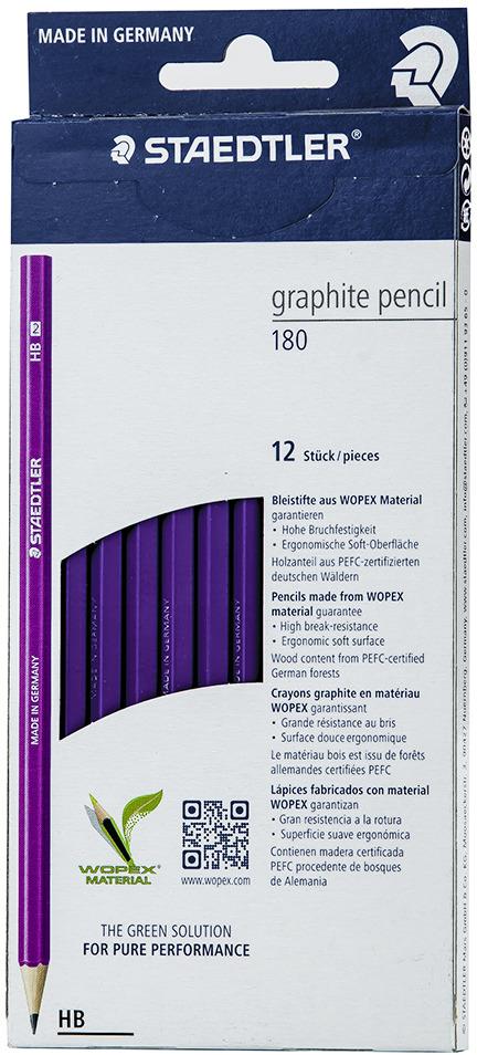 Набор чернографитовых карандашей Staedtler Wopex HB, цвет корпуса: фиолетовый, 12 шт -  Карандаши